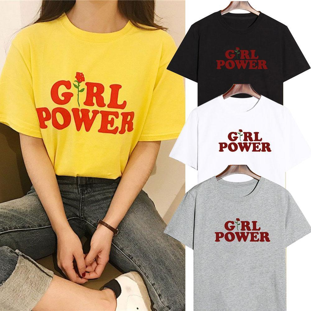Girl Power Tee (Yellow, White, Black, Gray)