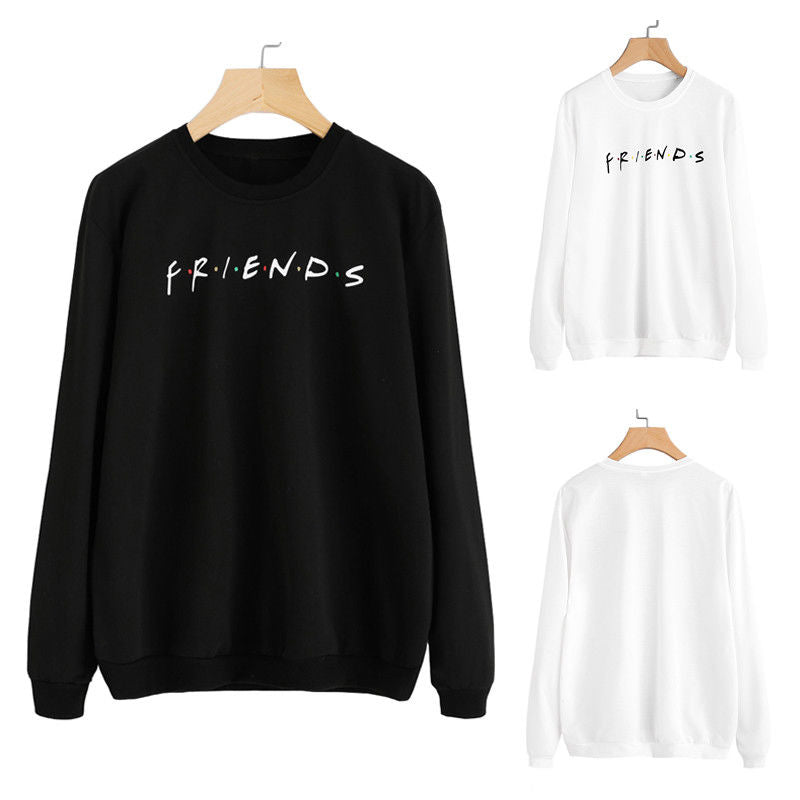 Best Friend BBF Matching Hoodies FRIENDS Couple Sweatshirt Hoodie Sweater Coat