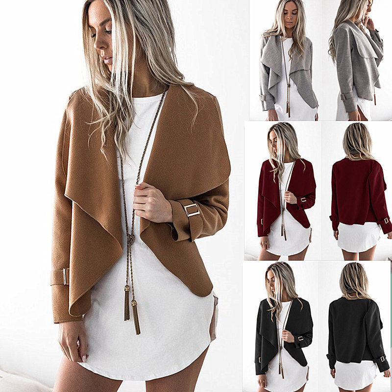 Reese Jacket - New Women Long Cardigan Loose Sweater Sleeve Knitted Outwear Jacket Coat