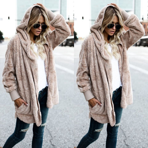 Taupe - Women's Long Oversized Loose Knitted Sweater Cardigan Outwear Coat New