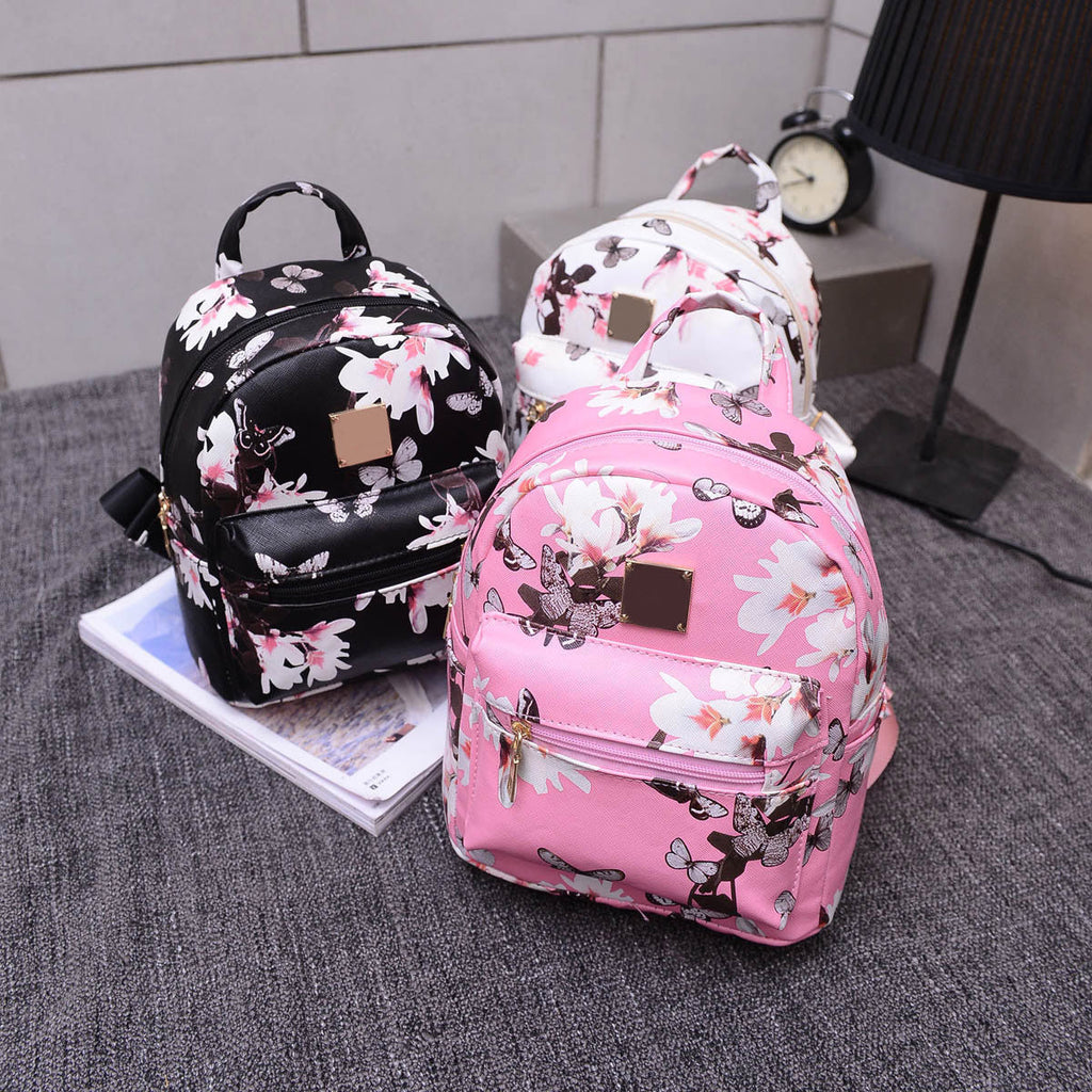 ... Floral Mini Backpack (Black 519e58c1efbd8