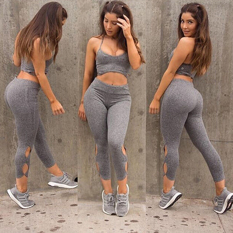 Pricilla Two Piece Fitness Set - Top and Leggings