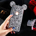 Fashion 3D Luxury plating Glitter Bling Mouse Ear Phone Case For