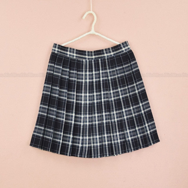 Plaid A Line Tennis Skirt