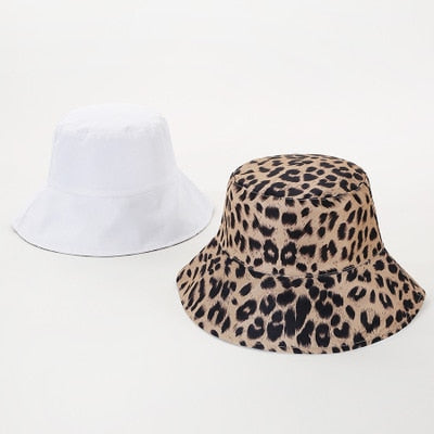Reversable Leopard Print Bucket Hat
