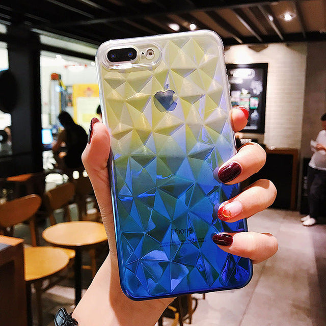 Luxury 3D Diamond Gradient Pattern Phone Case