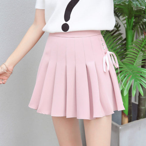 Ribbon Lace Up Skirt