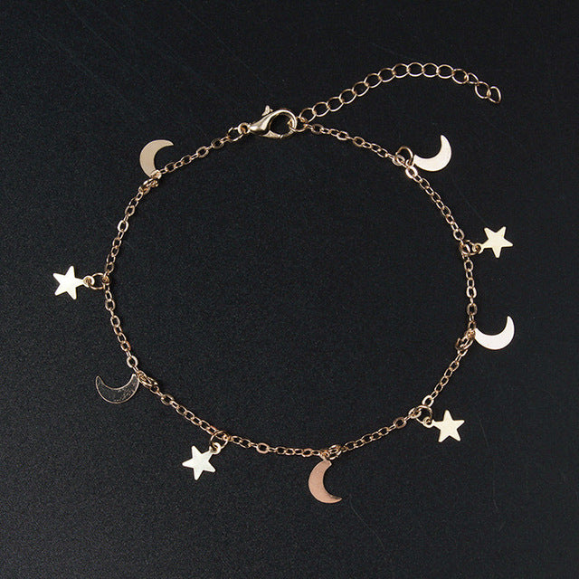 Sun And Moon Dainty Charm Bracelet