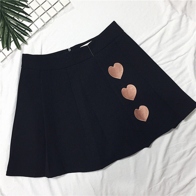 Heart Tennis Skirt