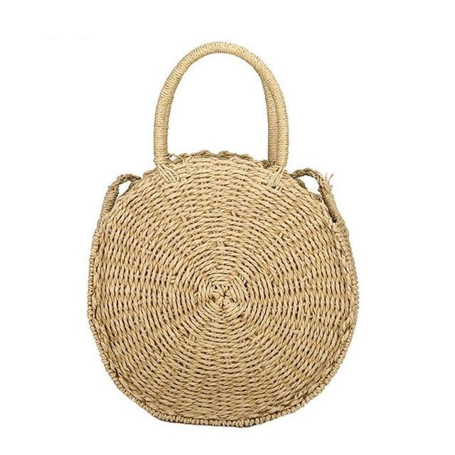 Beach Dweller Circle Straw Bag