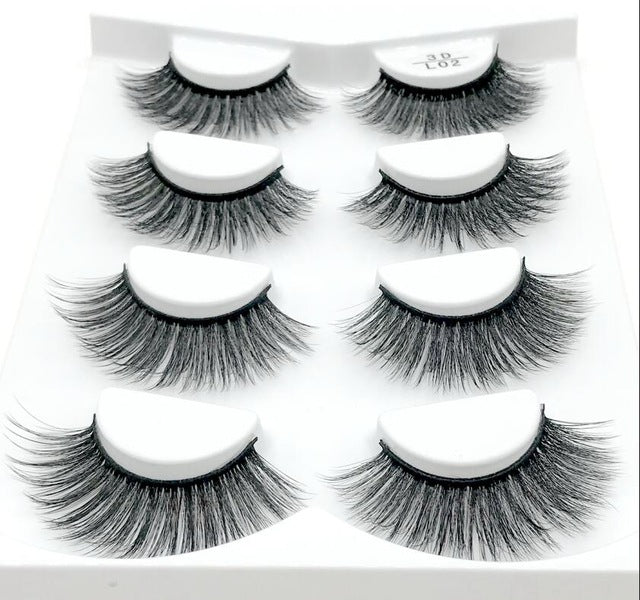 14 Pairs Natural False Eyelashes Fake Lashes Long Makeup 3d Mink