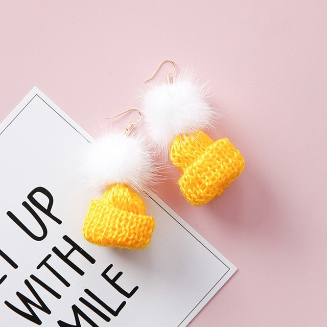 Mini Beanie Earrings