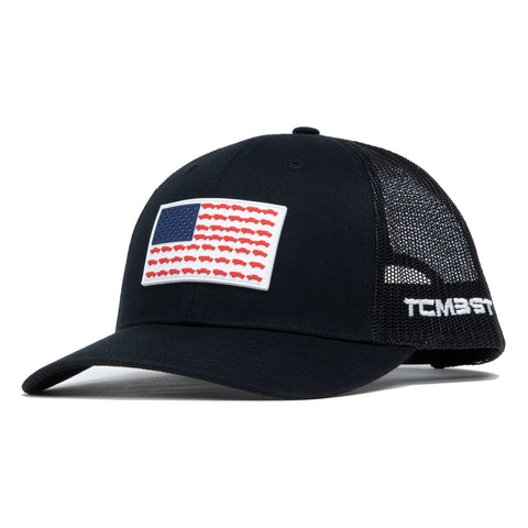 Tacoma USA PVC Flag - Black Trucker Hat - Limited Edition