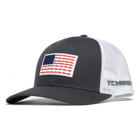 Tacoma USA PVC Flag - Grey Trucker Hat - Limited Edition