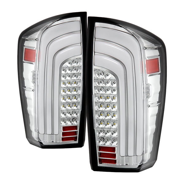 16-19 LED Tail Lights w/ Sequential Turn Signal Light Bar
