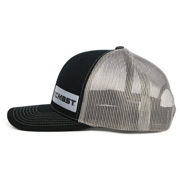 TCMBST Leather Patch Trucker Hat - Black