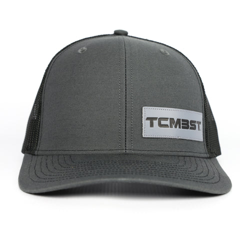 TCMBST Leather Patch Trucker Hat - Charcoal