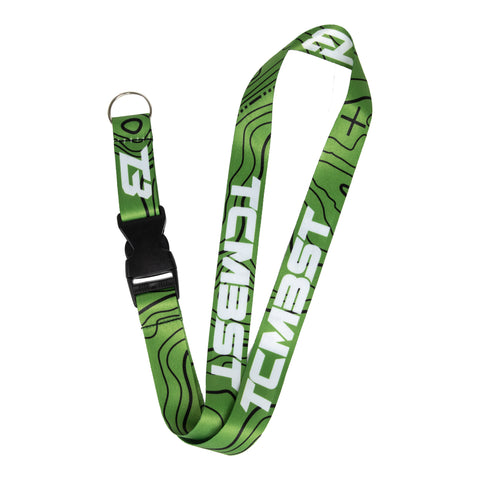 Green Topography TCMBST Lanyard