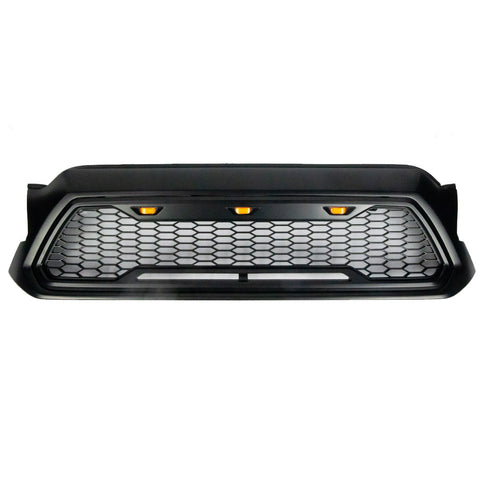 2012-2015 Tacoma Raptor Style Mesh Grille With 3 Amber LED Lights