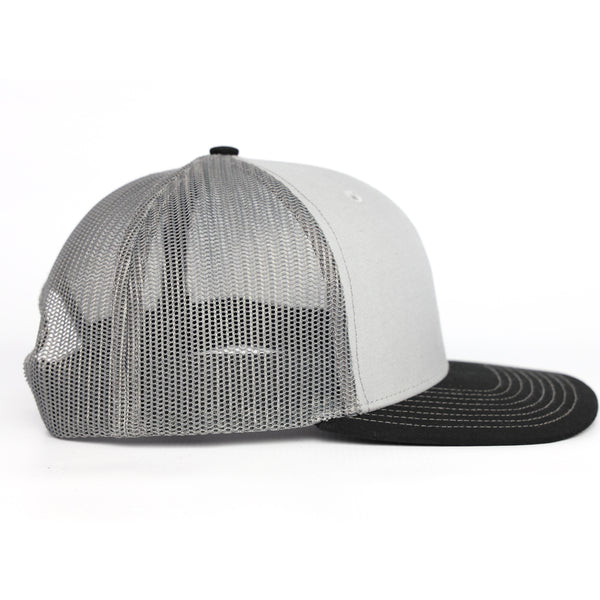 TCMBST Leather Patch Trucker Hat - Light Grey
