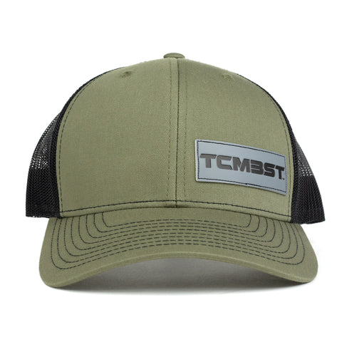 TCMBST Leather Patch Trucker Hat - Green