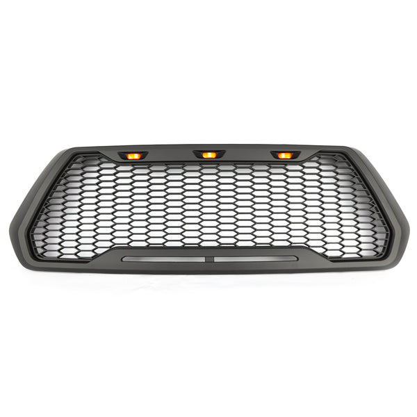 16-19 Tacoma Raptor Style ABS Mesh Grille With 3 Amber LED Lights