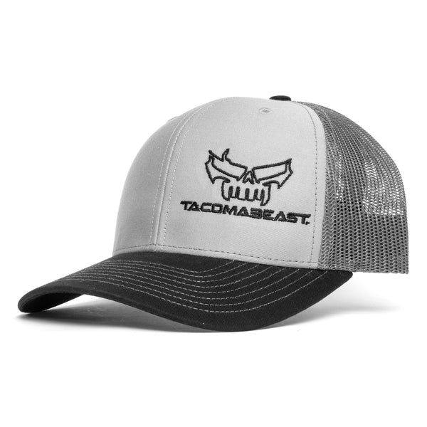 TacomaBeast Side Skull Trucker Hat - Grey