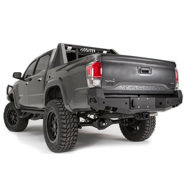 Premium Black Powder Coated Rear Bumper