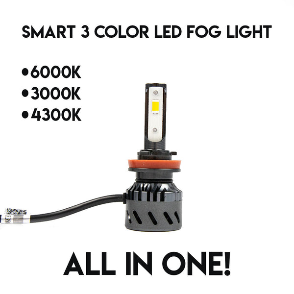 H11 - Smart 3 Color LED Plug and Play Bulb