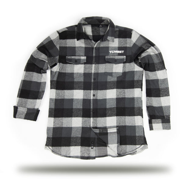 TCMBST - Long Sleeve Flannel - Black/Grey