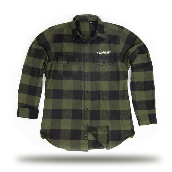 TCMBST - Long Sleeve Flannel - Army/Black