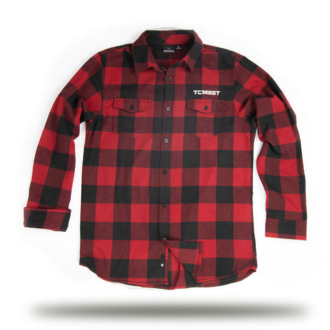 TCMBST - Long Sleeve Flannel - Red/Black
