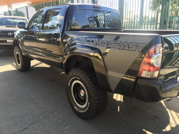 TACOMABEAST Bed Decal (Comes in Pairs)