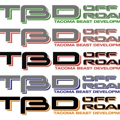 TACOMABEAST TBD Decal (Come in Pairs)