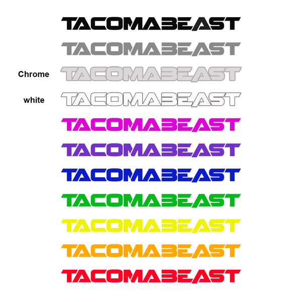 TACOMABEAST Mini Decals