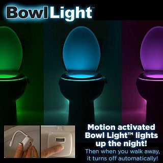 EXCLUSIVE BOX ADD-ON-Toilet Motion Sensor Light - Light up the bowl!