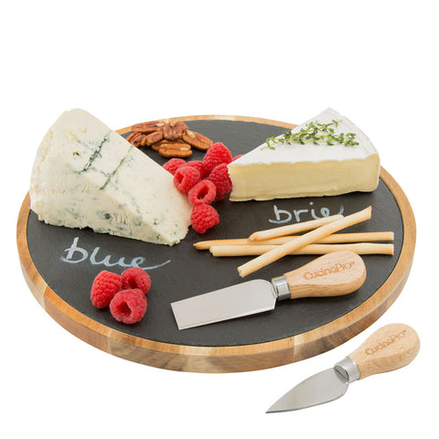 Lazy Susan 'Write On' Cheese Plate by Cucina Pro - SHIPS FREE