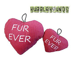 EXCLUSIVE BOX ADD-ON HuggleHounds Fur Ever Plush Heart Dog Toy