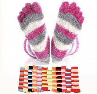 EXCLUSIVE BOX ADD-ON 3 Pack of Super Comfy Fuzzy Toe Socks