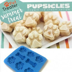 EXCLUSIVE BOX ADD-ON Dog Treat Silicone Mold With Pupsicles Doggie Ice Cream Recipe Magnet