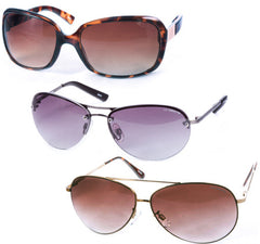 3 Pack Of Assorted Name Brand Ladies Sunglasses - SHIPS FREE