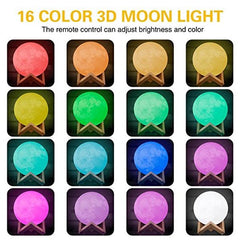 3D Moon Lamp Printed Night Light - SHIPS FREE!