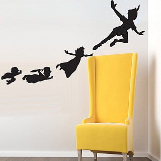 EXCLUSIVE BOX ADD- ON Peter Pan Flying Shadows Set of Wall Clings