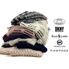 Set of 5 Designer Winter Hats or Scarves - All Brands From Macy's - Rampage, Ralph Lauren, Michael Kors, DKNY and Steve Madden
