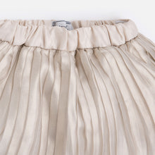 Mini Gold Metallic Pleated Skirt