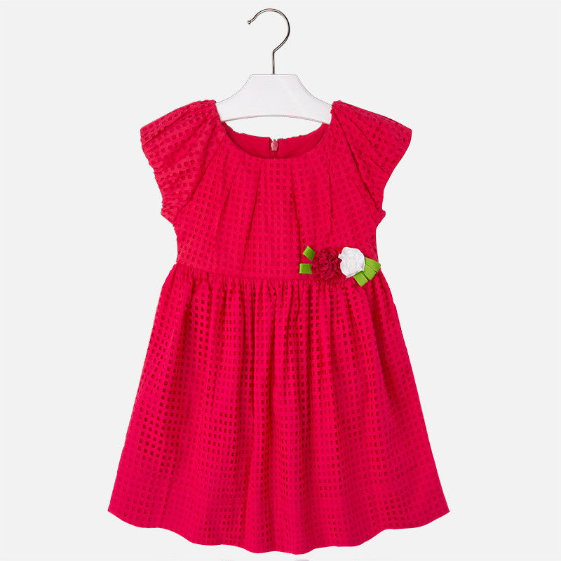 Mini Ruby Red Floral Dress