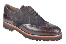Leather & Suede Brogue Shoe by Alpe