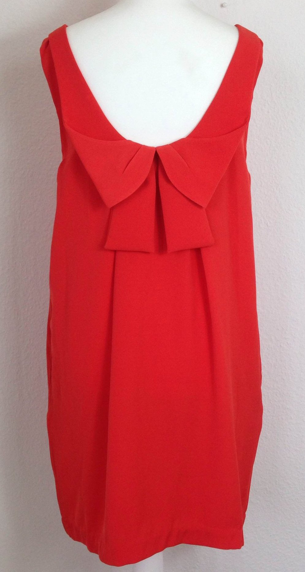 Red Bow Back Shift Dress by FRNCH