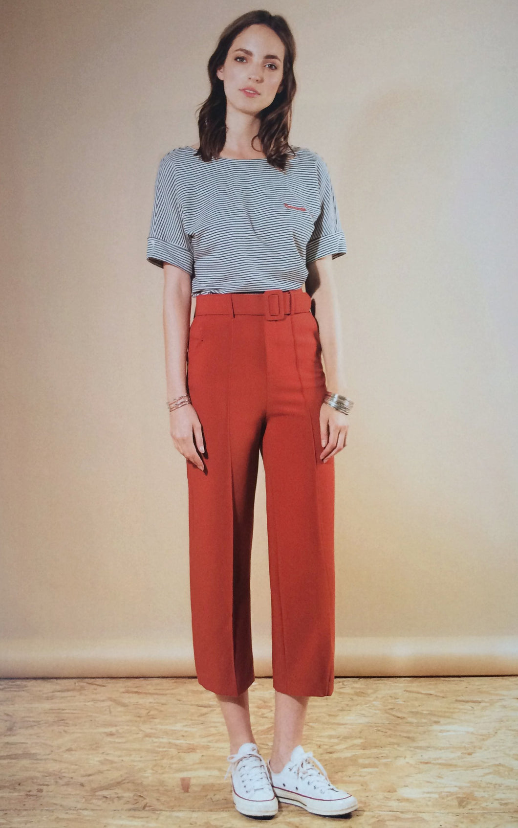 High Waisted Crop Trousers