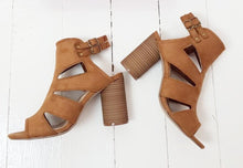 VALARIE ROUND HEEL SANDALS TAN by Dolcis